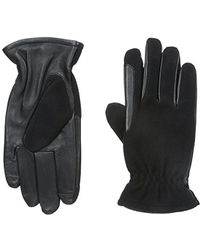 Izod Wool Touchscreen Gloves With Fleece Lining - Black