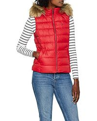 Tommy Hilfiger Gilet Essential Hooded Down - Rot