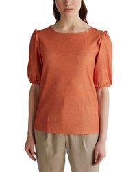 Esprit 030ee1k411 T-Shirt - Orange