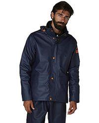 Helly Hansen S Gale Waterproof Rain Workwear Jacket - Blue