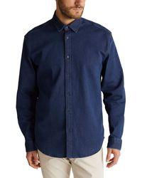 Esprit 080EE2F306 Camisa - Azul