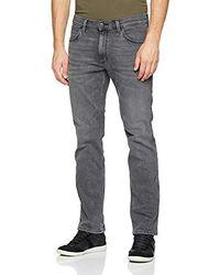 Wrangler Greensboro Jeans Straight Uomo - Grigio