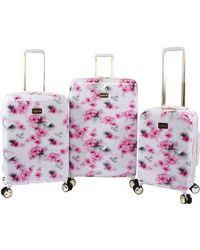 Bebe Juliette 3pc Spinner Suitcase Set - Pink