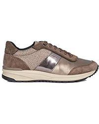 Geox D Airell A, Zapatillas para Mujer - Marrón