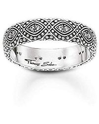 Thomas Sabo Ring Ethno Ornamente Ring Ethno Ornamente 925er Sterlingsilber, Geschwärzt TR2092-643-14 - Mettallic