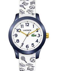 Lacoste - Unisex Kinder Analog Quarz Uhr mit Silikon Armband 2030011 - Lyst