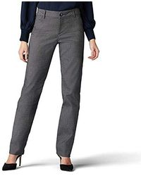 Lee Jeans Wrinkle Free Relaxed Fit Straight Leg Pant - Black
