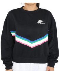 Nike Heritage Sweatshirt Schwarz XS