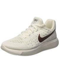 NIKE Womens W Lunarepic Low FK 2 X-Plore Mesh Running Shoe-White//Metallic Bronze-7.5