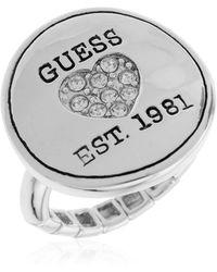 Guess Ring Ubr81116 17 Metallic Silver