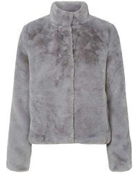 Vero Moda Vmthea Short Faux Fur Jacket Noos - Natural