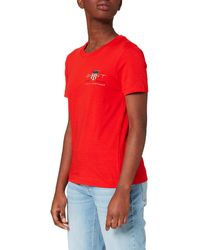 GANT Archive Shield SS T-Shirt - Blu