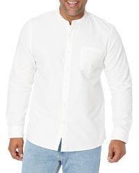 Goodthreads Slim-fit Long-sleeve Band-collar Oxford Shirt - White