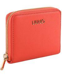 Liu Jo LIU JO hattan Zip Around Wallet S Poppy - Rosso