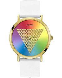 Guess Analog Quarz Uhr mit Silicone Armband W1161G5 - Weiß