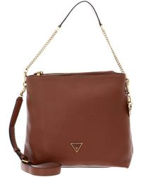 Guess Destiny Hobo Bags - Brown