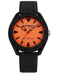 07c069dff3a2 Superdry - Reloj Analógico para Hombre de Cuarzo con Correa en Silicona  SYG243BO - Lyst