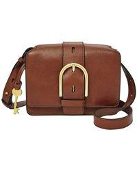 Fossil Wiley Mini Flap Bag Brown - Marron