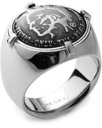 DIESEL Ring DX0742040 - Mettallic