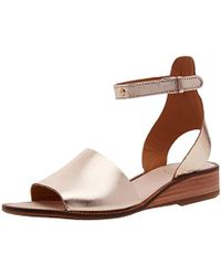 69ccf9c644d Jeffrey Campbell Starfish Flat Sandals in Metallic - Lyst