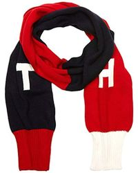 Tendance Tommy Hilfiger - TH Denim Knit Scarf, Echarpe Femme, Multicolore  (Corporate CLRS) e2eb16cf7a2