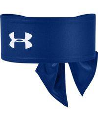 Under Armour Adult Tie Headband - Blue