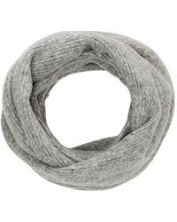 S.oliver Loop aus softem Rippstrick grey melange 1 - Grau