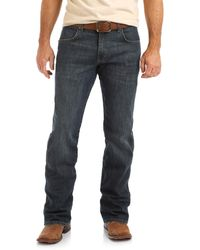 Wrangler Retro Relaxed Fit Boot Cut Jean - Blue