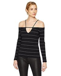 Guess - Long Sleeve Taylor Strapy Off Shoulder Top - Lyst