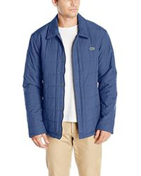 Lacoste Quilted Car Coat, Bh9478-51 - Blue