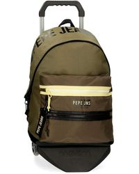 Pepe Jeans Caden Adaptable Backpack With Trolley - Green