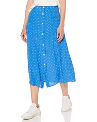 Miss Selfridge Spotted Pocket Midi A-line Skirt Rock - Blau