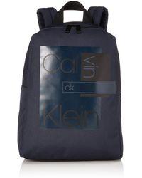 Calvin Klein Layered Round Backpack - Bleu
