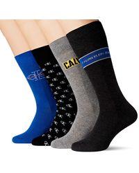 Calvin Klein Jeans Logo Crew Socks 4p giftbox Chaussettes - Bleu