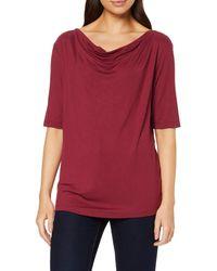 Tom Tailor T-Shirts/Tops T-Shirt mit Wasserfallausschnitt Tile red,S - Rot