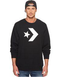 Converse Sweater Star Chevron Graphic Crew 10006434 001 Black - Schwarz