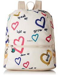 Desigual Bag Natural Message Novara - Multicolore