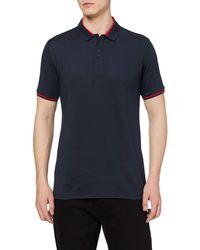 HIKARO Polo pour s ches Courtes Polo T-Shirts Respirant Business Tops de Tennis Golf pour s Purplish Blue M - Bleu