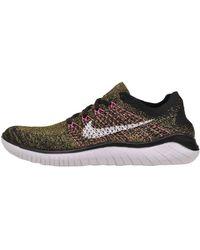Nike Free Rn Flyknit Running Shoe Uk 10.5 - Black