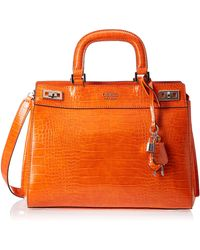 Guess Katey Luxury Satchel Orange