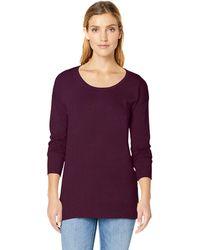 Amazon Essentials Lightweight Long-sleeve Scoopneck Tunic Sweater - Purple