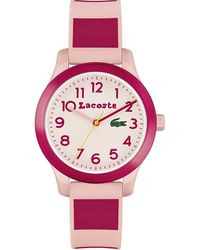 Lacoste Reloj Cosa análoga para Muchachas de Cuarzo con Correa en Silicona 2030034 - Rosa