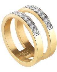 Guess Stainless Steel Ring - Metallic