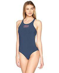 Emporio Armani - Ea7 Sea World Logo Series One Piece Swimsuit - Lyst