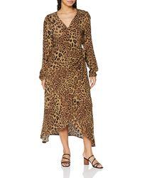 True Religion Wrap Dress Long Sleeve Vestito Casual - Marrone