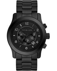 Michael Kors Watches Black Bracelet Chronograph Sport