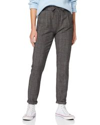 Vero Moda Vmeva Mr Loose String Checked Pant Color Pantaloni - Grigio