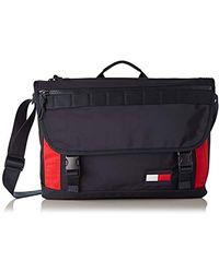 Tommy Hilfiger Messenger, Sacs portés épaule homme, Multicolore (Corporate) - Noir