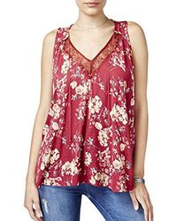Lucky Brand - Wildflower Lace Tank Top - Lyst