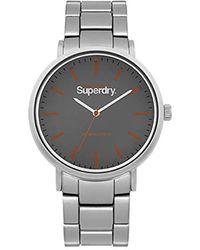 Superdry Reloj Analógico para Hombre de Cuarzo con Correa en Ninguno SYG003ESM - Metálico